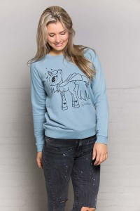 sweater-unicorn-steel-blue-voorkant