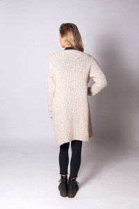 mooi wit gehaakt damesvest  – winter white